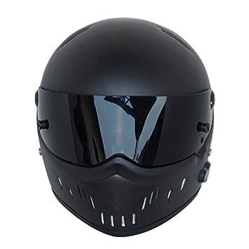 Casco de moto modular para adulto negro con Bluetooth hecho de fibra de vidrio, Black