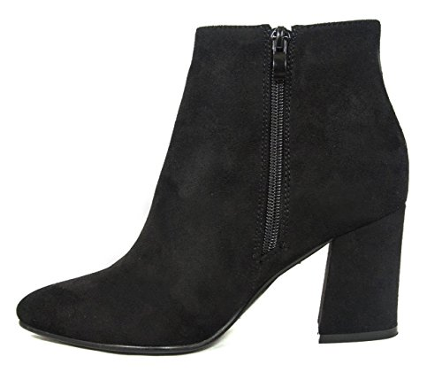 Stacked Ankle Women's BETANI Toe Heel Bootie Chunky Pointed Black ZTZqwx1