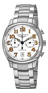 Longines Men's L27054236 Spirit White Chronograph Dial Watch