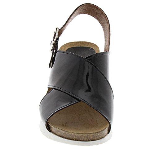 Marc Shoes Damen Lexi Slingback Sandalen Schwarz (Schwarz)