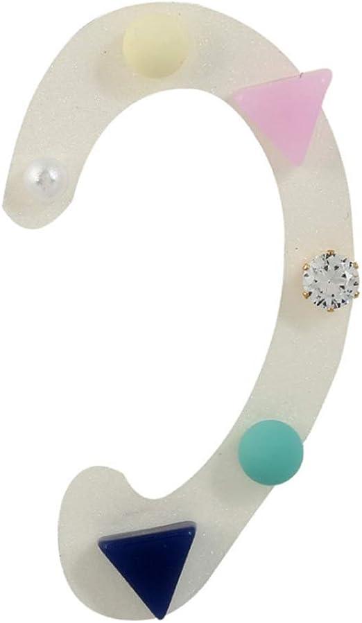 Pendientes de mujer Colores brillantes Diseño geométrico Cristal ...