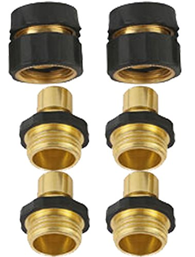 3 4 Brass Garden Hose Quick Connector Value Pack 4male 2female