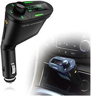 BoomboostホットカーMP3プレーヤーハンズフリーFMトランスミッタ変調器360度回転USB充電器付き液晶リモコン
