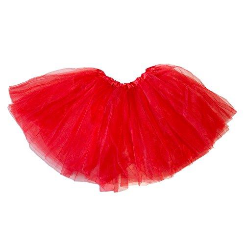 [My Lello Little Girls Tutu 3-Layer Ballerina Red (9 mo - 3T)] (Tutu For Toddler)
