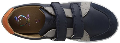 SHOO POM Jungen Play Scratch Flach Bleu (Navy-Grey-Orange)