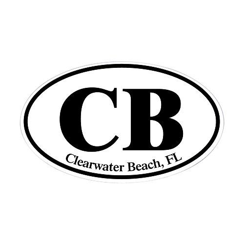 CafePress - CB Clearwater Beach Sticker (Oval) - Oval Bumper Sticker, Euro Oval Car - Fl You Clearwater Fit