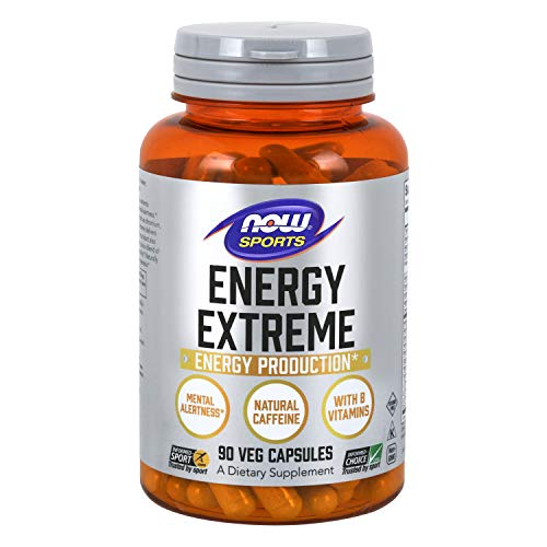 NOW Sports Nutrition, Sports Energy Extreme with B Vitamins & other cofactors such as Chromium, Magnesium Malate & Carnitine, 90 Capsules