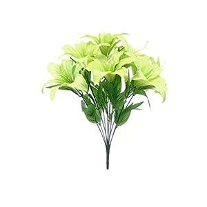 "Phoenix Silk Tiger Lily Bush Satin 11 Artificial Flowers 19"" Bouquet 8225 73"