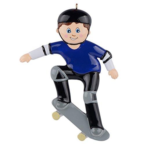 WorldWide Personalized Skateboard Boy Ornament (Skateboard Pen)