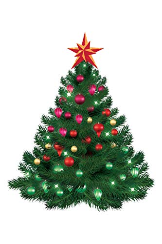 100yellow Christmas Tree Sticker (Multicolor,24 * 36 Inch.)