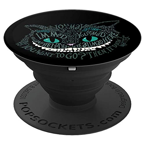 Cheshire Alice Cat We're All Mad Here Wonderland - PopSockets Grip and Stand for Phones and Tablets -