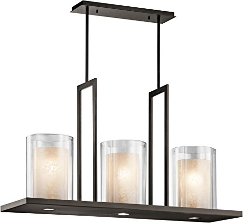 Kichler 42548OZ, Triad Large Glass 1 Tier Chandelier Lighting, 6 Light, Olde Bronze -