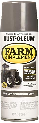 (Rust-Oleum RUSTOLEUM 280133 Massey Ferguson Gray 12 oz Farm & Implement Spray Paint)