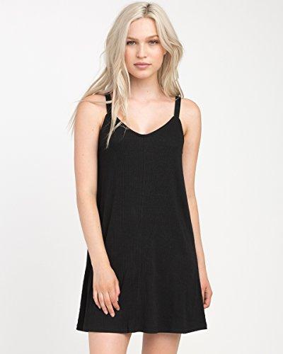 RVCA Junior's Switchback Tank Dress, Black, XS
