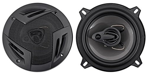 Pair Rockville RV5.3A 5.25″ 3-Way Car Speakers 600 Watts/100 Watts RMS CEA Rated
