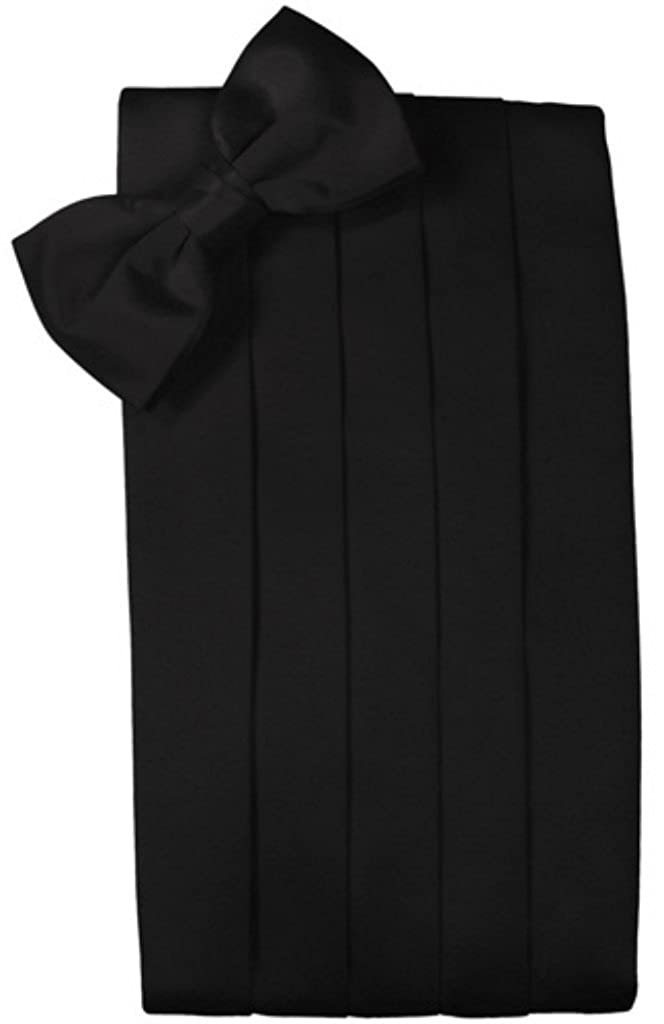 Big and Tall Black Silk Cummerbund and Bow Tie Set bigntall-blacksilk-cummerbundbowtie