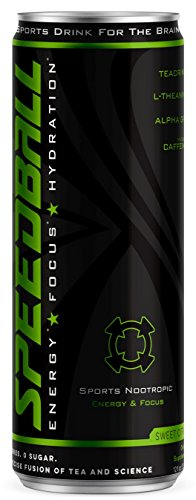Speedball Sweet Citrus Energy, Pre-Workout Hydration Drink with Electrolytes for Better Focus, Higher Performance, Improved Endurance, and Faster Metabolism for Athletes by RuckPack 12 pack