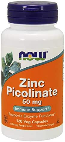 NOW Supplements, Zinc Picolinate 50 mg, 120 Veg Capsules