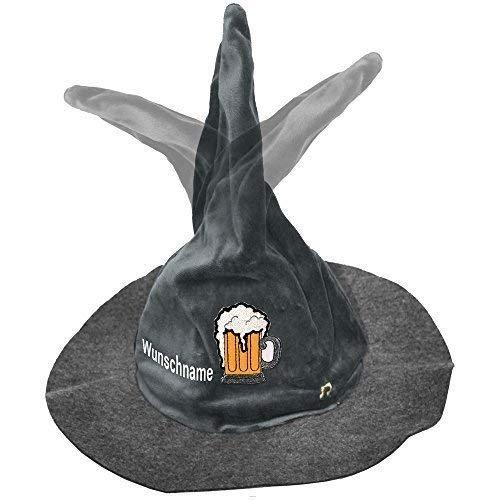 Wackelhut Gaudi Hut Bewegung + Sound Oktoberfest tanzt jodelt Bier Humpen mit Namenseinstickung - 51508