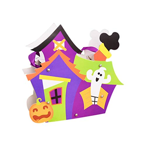 Loneflash Halloween Bags,Trick or Treat Candy Bags Handles Gift Sacks Pumpkin Bags for Kids Presents -