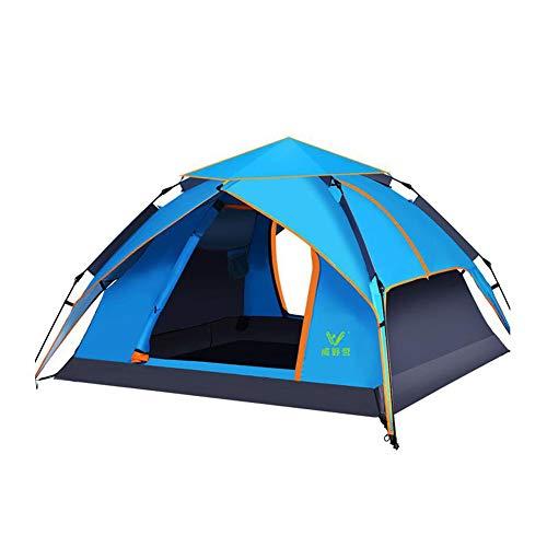 六月メディカルスイス人DALL テント テント キャンプ 家族 ドームテント インスタント 自動 ポップアップ ダブルレイヤー 防水