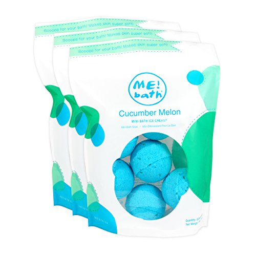 ME! Bath Mini Bath Bombs, Crafted in the USA, Cucumber Melon, Pack of 3 (18 Mini Bombs)