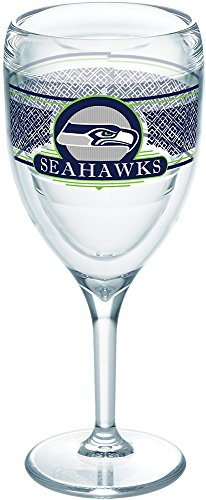 Tervis 1227721 NFL Seattle Seahawks Select Tumbler with Wrap 9oz Wine Glass, (Seahawks Wine Glasses)