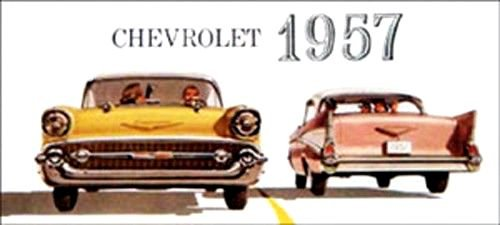BEAUTIFUL, FULL COLOR 1957 CHEVROLET PASSENGER CAR DEALERS SALES BROCHURE - INCLUDES Bel Air, One-Fifty 150, Two-Ten 210, Wagons, covertibles, Coupes, Sedans, 4-door, 2-door. CHEVY - ADVERTISMENT PAMPHLET AD ()