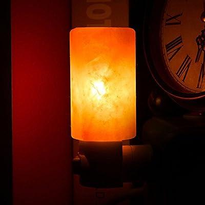 Himalayan Salt Night Light Natural Crystal Lamp Air Purifier Home Wall Deco DH