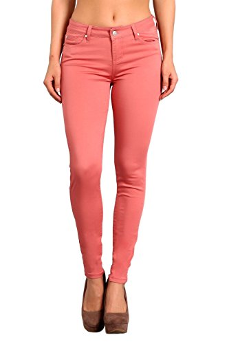 - Celebrity Pink Women's Mid Rise Colored Skinny Pants 1 Canyon Rose CJ21038Z35