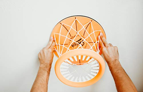 Ceiling Sport: Indoor Mini Basketball Hoop for Kids Toy Game - Includes Basketball Net Backboard and Mini Basketball