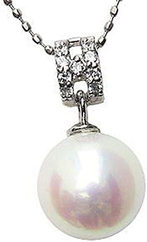 パール ペンダントトップ ペンダントヘッド 真珠ペンダントチャームネックレス あこや真珠パール PT900プラチナ ダイヤモンド ペンダント結婚式 入学祝 パーティー