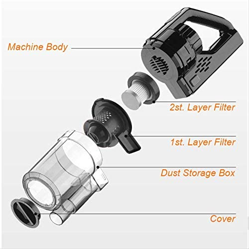 Aspirateur portableCar Vacuum Cleaner Wireless Rechargeable Handheld Vacuum Cleaner Super Suction Car Wet/dry Clean