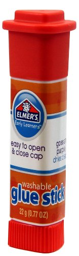 ELMERS Early Learners Washable Glue Stick, .77 Oz., Pack of 12 Sticks (E4055)