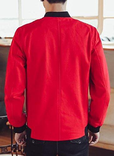 Lunghe Linguetta Rana Stile Uomini Ttyllmao A Di Rossa Pulsante Maniche Elegante Giacca Cappotto Cinese BwSqxq85