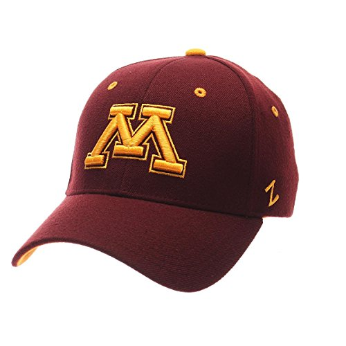 Minnesota Golden Gophers Acrylic Football - NCAA Minnesota Golden Gophers Men's ZH Stretch Fit Cap, Maroon, Medium/Large