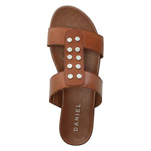 Daniel Reesa Tan Leather Studded Mules Tan Leather C1K4a