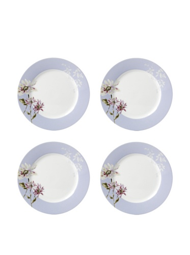 Mikasa Silk Floral Set of 4 Lavender Appetizer Pla ()