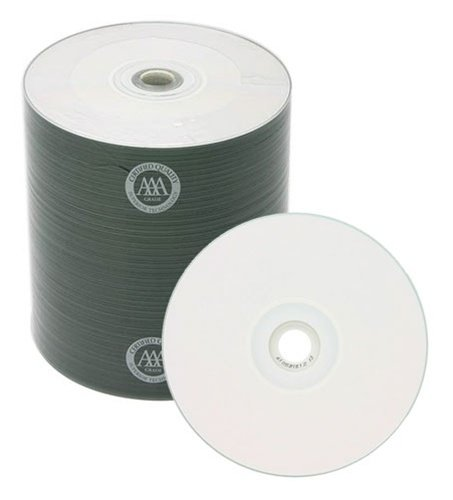 500 Spin-X 52x CD-R 80min 700MB White Inkjet Hub Printable by SpinX