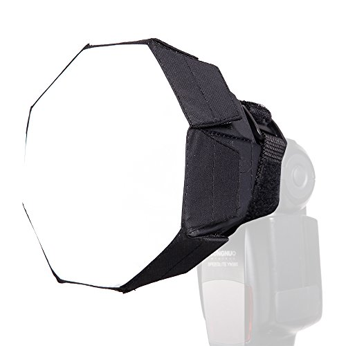 FOTOCREAT 5.5inch 14cm Mini Octagon Flash Diffuser Light Softbox for Nikon//Canon//Sony//YongNuo//Bower//Metz//Nissin//Pentax//Sigma//Vivitar//Sunpack Speedlite