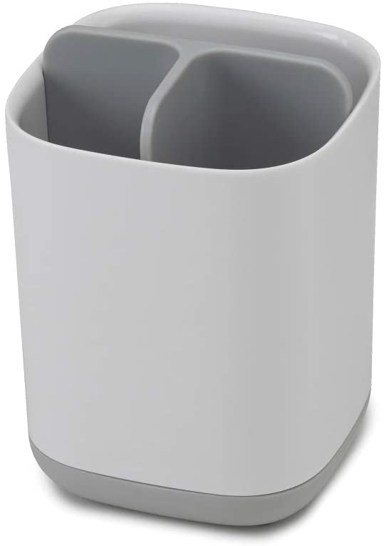 Joseph Joseph 70509 EasyStore Toothbrush Holder Bathroom Storage Organizer Caddy, Small, Gray: Kitchen & Dining