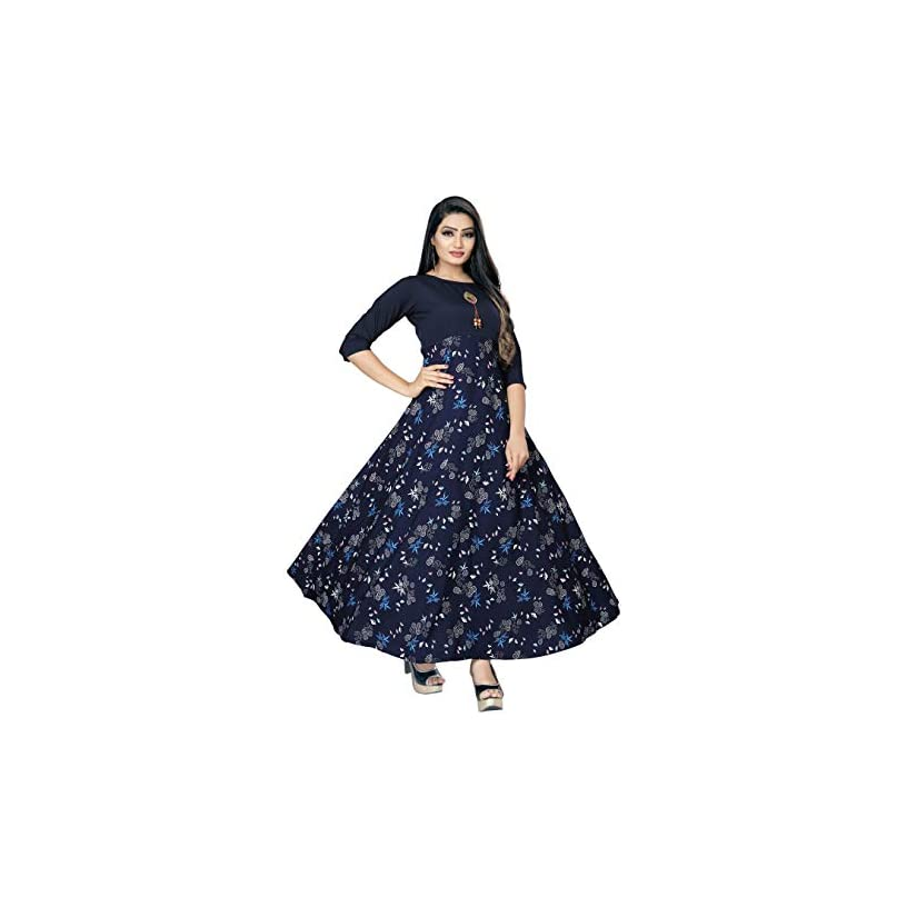 Best Ethnic For Women Long Fit & Flare Stitched Gown With Multi colors 2020