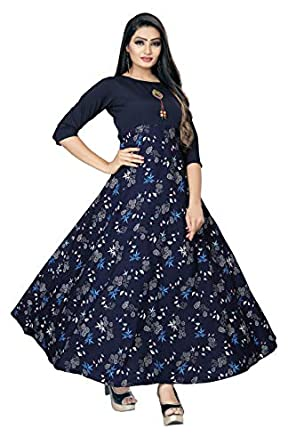 New Ethnic 4 You Women's Anarkali Maxi Stitched Gown