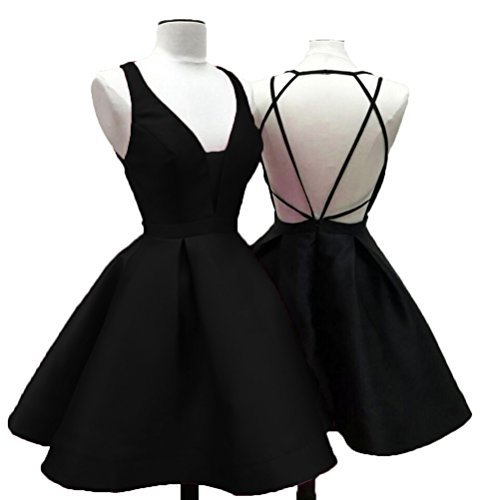 Kleid Schwarz Fanciest Damen A Linie OFqx68v