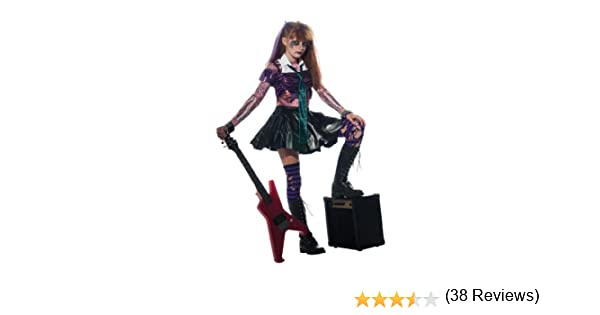 Halloween - Disfraz de Rockera Zombie para niña, infantil 5-7 años ...