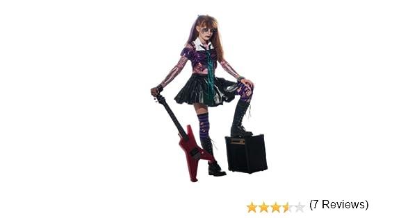 Halloween - Disfraz de Rockera Zombie para niña, infantil 8-10 ...