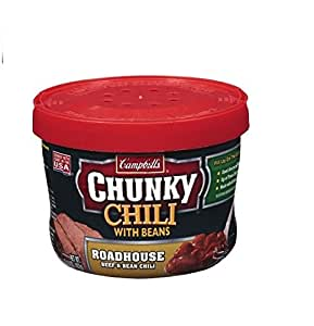 Campbell's Chunky Chili with Beans Roadhouse Beef & Bean Microwavable Chili 15.25 oz