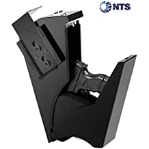 GOJOOASIS Gun Safe Quick Access Under Desk Pistol Security Handgun Storage Box with Keypad and 2 Backup Keys