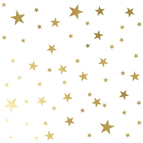 - Mozamy Creative Star Wall Decals (189 Count) Gold Star Decals Nursery Decals Removable Peel and Stick Wall Decals, Vintage Gold