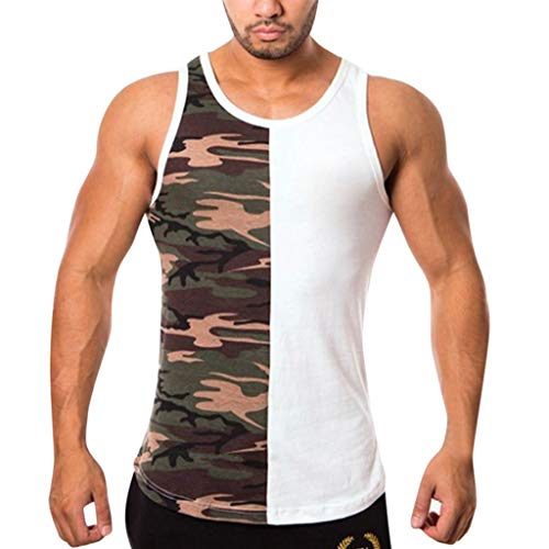 Baseline Sleeveless - MmNote mens clothes clearance sale, Mens Bodybuilding Body Shaper Camouflage Quick Drying Sleeveless Vest